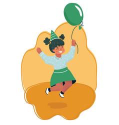 birthday girl celebration vector image