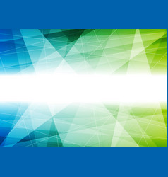 blue and green tech polygonal background vector image