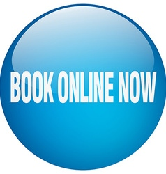 book online now blue round gel isolated push vector image