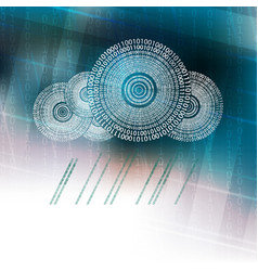 bright blue design with a computer cloud vector image