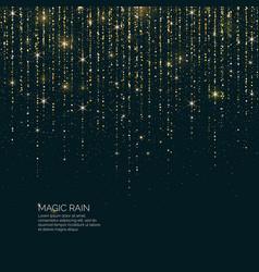 Bright magic rain of sparkling vector