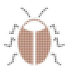 Bug halftone icon vector
