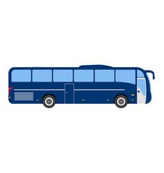 Bus flat icon and logo cartoon vector