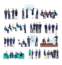 Business People Groups Collection vector image
