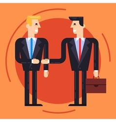 Businessmen shaking each other hands vector