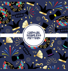 carnival seamless pattern poster vector image