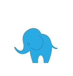 Cartoon Elephant Isolated on White Background vector image
