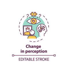 Change in perception concept icon vector