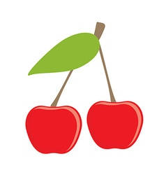 Cherry icon vector