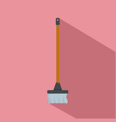 cleaning mop icon flat style vector image