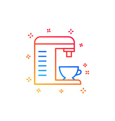 Coffee machine line icon hot drink sign vector