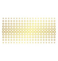 cogwheel golden halftone matrix vector image
