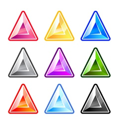 Colourful Triangle Diamonds vector