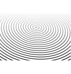 concentric rings pattern vector image