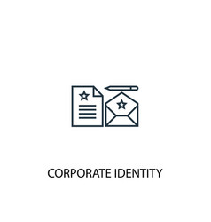 corporate identity concept line icon simple vector image