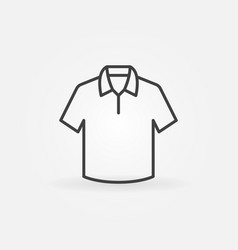 cute t-shirt outline icon or symbol vector image