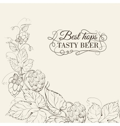 Decorative hops cover vector
