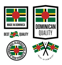 Dominica quality label set for goods vector