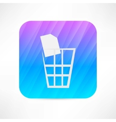 dustbin icon vector image