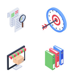 Ecommerce and documentation icons vector