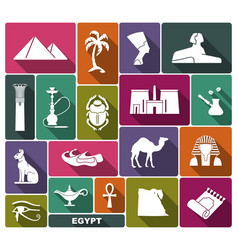 Egyptian symbols icon vector