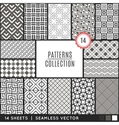 Elegant seamless patterns vector image