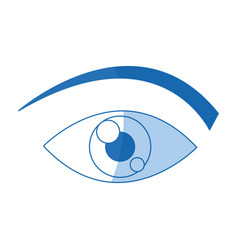 Eye cartoon people watch image vector