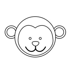 figure face monkey icon vector image
