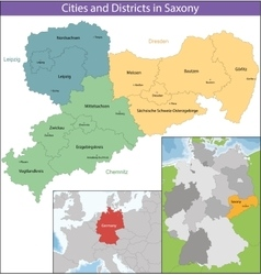 Free State of Saxony vector image