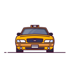 front view of taxi car vector image