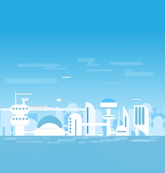 Futuristic white city vector image
