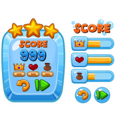 game template with score bars vector image