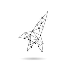 Geometric spaceship design silhouette vector image vector image