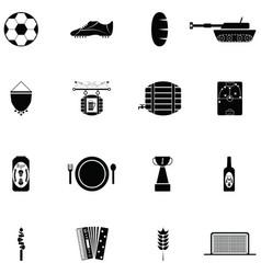 Germany icon set vector