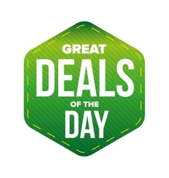 Great Deals of the Day vector