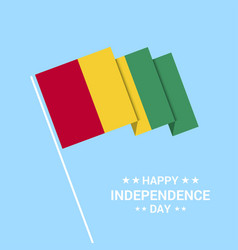 Guinea independence day typographic design vector
