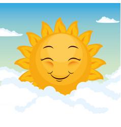 happy sun design vector image
