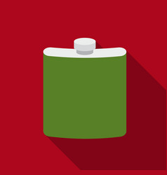 Hip flask icon in flat style isolated on white vector