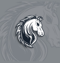 horse head mascot logo design vector image