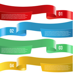 infographic ribbon banners of diferent color on vector image