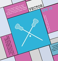 Lacrosse Sticks crossed icon sign Modern flat vector