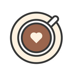 Latte coffee related filled style editable vector
