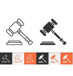 Law simple black line icon vector