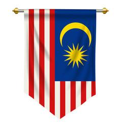 Malaysia pennant vector