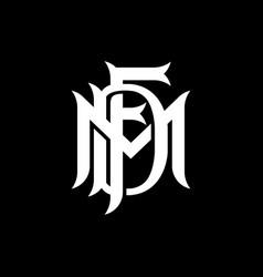 Mdf letter logo design vector