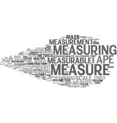 measurable word cloud concept vector image