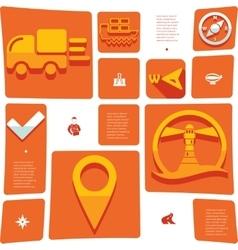 Navigation flat infographic vector