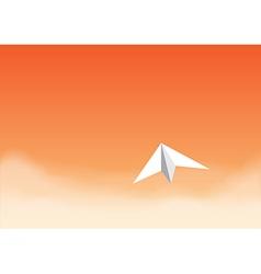 Paper plane orangeth vector