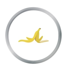 Peel of banana icon in cartoon style isolated on vector