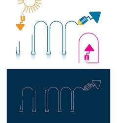 pencil tool arch vector image